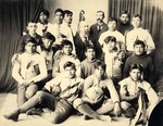 19 Albuquerque Indian School Football Team by Nancy Brown-Martinez
