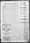 Alamogordo News, 07-25-1908
