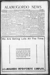 Alamogordo News, 11-21-1908