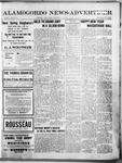 Alamogordo News Advertiser, 01-02-1913 by Chas. P. Downs