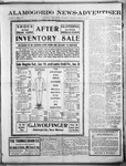 Alamogordo News Advertiser, 01-18-1913 by Chas. P. Downs