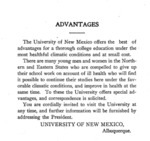 Advantages by University of New Mexico
