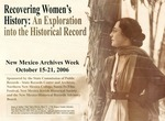 Recovering Women's History: An Exploration into the Historical Record by State of New Mexico