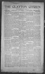 Clayton Citizen, 11-16-1916 by R. Q. Palmer