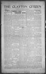 Clayton Citizen, 11-23-1916 by R. Q. Palmer