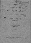 1913-1914-UNM CATALOG by UNM Office of the Registrar