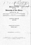 1915-1916-UNM CATALOG by UNM Office of the Registrar