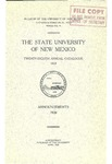 1919-UNM CATALOG by UNM Office of the Registrar