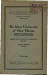 1925-1926-UNM CATALOG by UNM Office of the Registrar