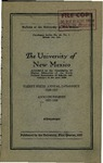 1926-1927-UNM CATALOG by UNM Office of the Registrar