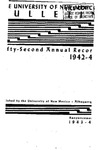 1942-1943 ANNUAL RECORD- BULLETIN