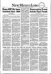 New Mexico Lobo, Volume 055, No 21, 10/30/1952 by University of New Mexico