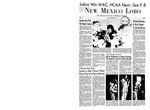 New Mexico Lobo, Volume 071, No 73, 3/4/1968 by University of New Mexico