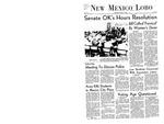 New Mexico Lobo, Volume 072, No 15, 10/3/1968 by University of New Mexico