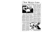New Mexico Lobo, Volume 072, No 22, 10/14/1968 by University of New Mexico