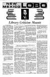 New Mexico Lobo, Volume 075, No 7, 9/7/1971