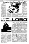 New Mexico Lobo, Volume 075, No 33, 10/13/1971