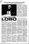New Mexico Lobo, Volume 075, No 47, 11/2/1971
