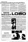 New Mexico Lobo, Volume 075, No 52, 11/9/1971