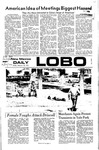 New Mexico Daily Lobo, Volume 075, No 97, 2/25/1972 by University of New Mexico
