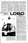 New Mexico Daily Lobo, Volume 075, No 102, 3/3/1972