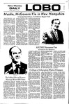 New Mexico Daily Lobo, Volume 075, No 104, 3/7/1972 by University of New Mexico