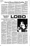 New Mexico Daily Lobo, Volume 075, No 107, 3/10/1972 by University of New Mexico