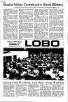 New Mexico Daily Lobo, Volume 075, No 115, 3/22/1972 by University of New Mexico