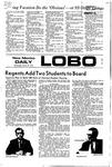 New Mexico Daily Lobo, Volume 075, No 120, 3/29/1972 by University of New Mexico