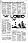 New Mexico Daily Lobo, Volume 075, No 126, 4/13/1972 by University of New Mexico