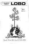 New Mexico Daily Lobo, Volume 075, No 128, 4/17/1972 by University of New Mexico