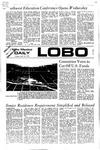 New Mexico Daily Lobo, Volume 075, No 129, 4/18/1972 by University of New Mexico