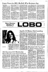 New Mexico Daily Lobo, Volume 075, No 132, 4/21/1972