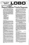 New Mexico Daily Lobo, Volume 075, No 138, 5/1/1972 by University of New Mexico
