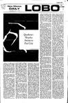 New Mexico Daily Lobo, Volume 075, No 140, 5/3/1972 by University of New Mexico