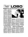New Mexico Daily Lobo, Volume 077, No 50, 11/2/1973