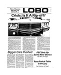 New Mexico Daily Lobo, Volume 077, No 73, 1/21/1974