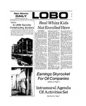New Mexico Daily Lobo, Volume 077, No 75, 1/23/1974