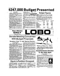 New Mexico Daily Lobo, Volume 077, No 107, 3/8/1974 by University of New Mexico