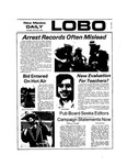 New Mexico Daily Lobo, Volume 077, No 116, 3/28/1974 by University of New Mexico