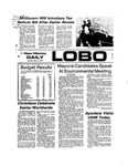 New Mexico Daily Lobo, Volume 077, No 128, 4/15/1974 by University of New Mexico