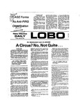 New Mexico Daily Lobo, Volume 077, No 137, 4/26/1974 by University of New Mexico
