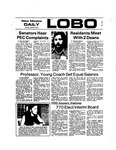 New Mexico Daily Lobo, Volume 077, No 138, 4/29/1974 by University of New Mexico