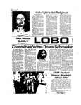New Mexico Daily Lobo, Volume 077, No 140, 5/1/1974 by University of New Mexico
