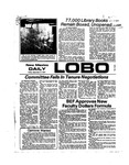 New Mexico Daily Lobo, Volume 078, No 25, 9/27/1974 by University of New Mexico