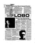 New Mexico Daily Lobo, Volume 078, No 44, 10/24/1974