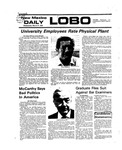 New Mexico Daily Lobo, Volume 079, No 121, 3/31/1976 by University of New Mexico