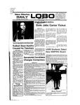 New Mexico Daily Lobo, Volume 080, No 49, 10/28/1976