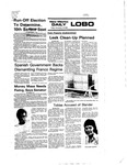New Mexico Daily Lobo, Volume 080, No 65, 11/19/1976 by University of New Mexico