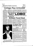 New Mexico Daily Lobo, Volume 081, No 44, 10/20/1977